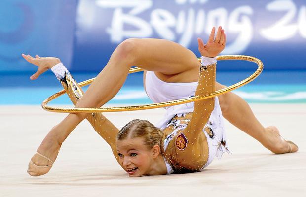Случайная обнаженка в гимнастике