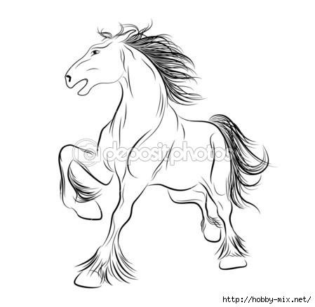 Эскизы рисунков лошадей