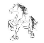 Превью dep_5778719-Vector-image-a-horse-tattoo (449x438, 61Kb)