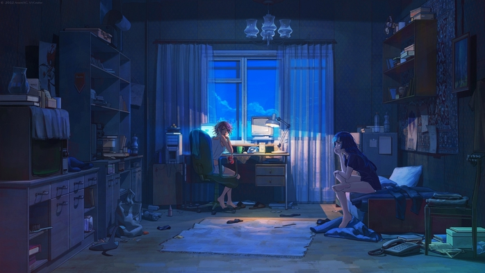 anime-evening-room-two-girls (700x393, 190Kb)