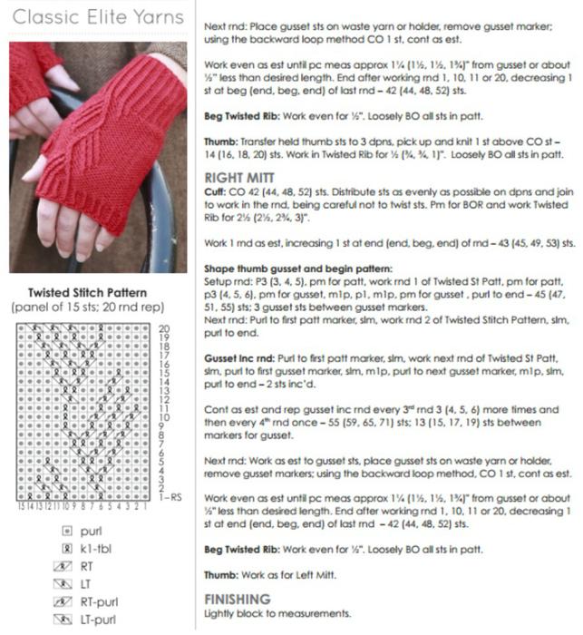 Митенки вязание схемы спицы