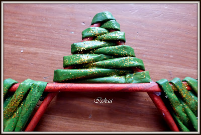 Рождественская звезда из газетных трубочек Мастер класс