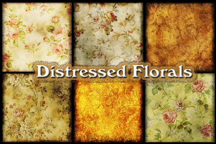 Distressed Florals (700x468, 547Kb)