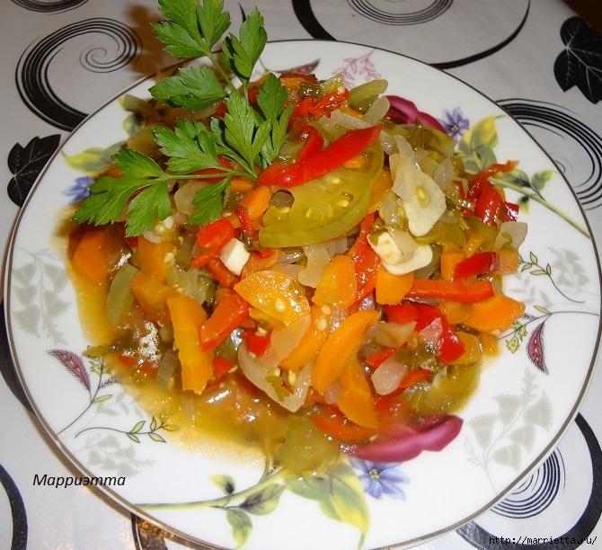 Салат из зеленых помидор с морковкой (1) (670x612, 309Kb)