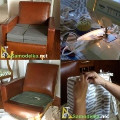 Как обновить старое кресло. Меняем обивку сами (1) (396x397, 89Kb)