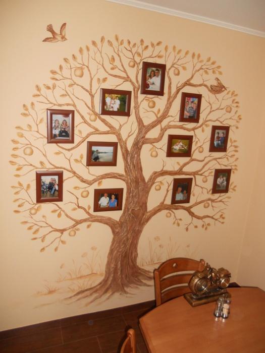 Как сделать на стене дерево из