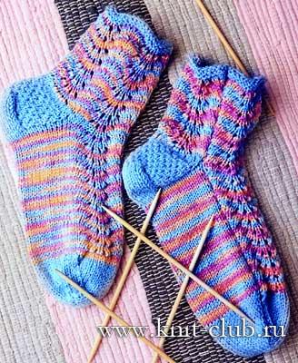 Размер вязаных носков: 38