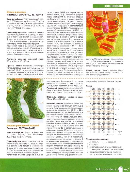 Ажурные носки спицами схемы с описанием: 25 тыс изображений 77