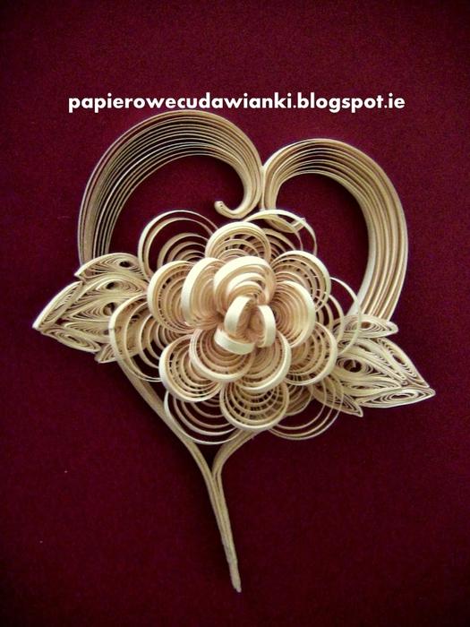 Квиллинг. Панно - сердца с объемными цветами (41) (525x700, 286Kb)