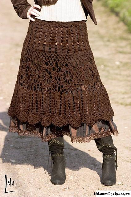 Вязаные крючком юбки модели и схемы