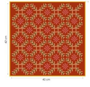 Рождественская красная подушка с вышивкой. Схема (3) (291x279, 72Kb)