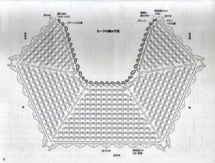 Вязание крючком кардиган реглан