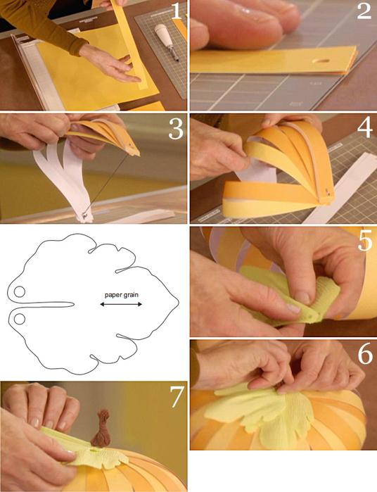 Как сделать из бумаги тыкву видео - HairyTale