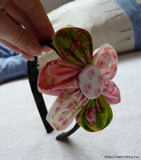 Шьем цветочек. Фото мастер-класс (2) (488x555, 125Kb)