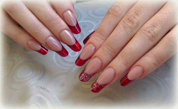 Фото нарощенные ногти френч дизайн