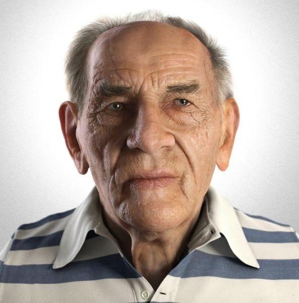 Это не фотография человека, это 3D-рендеринг. Тоесть модель человека созданная с помощью компьютерной графики (593x600, 125Kb)