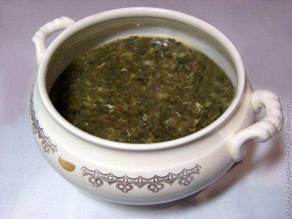 Щи из квашеной зеленой капусты рецепт с