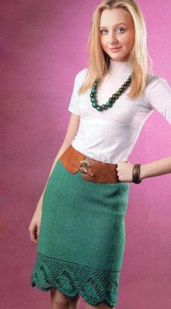 фото схема юбка крючком