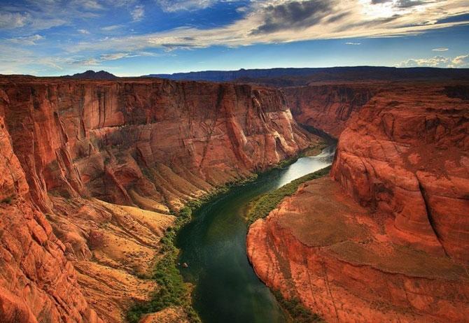 каньон реки колорадо в аризоне фото 4 (670x462, 241Kb)