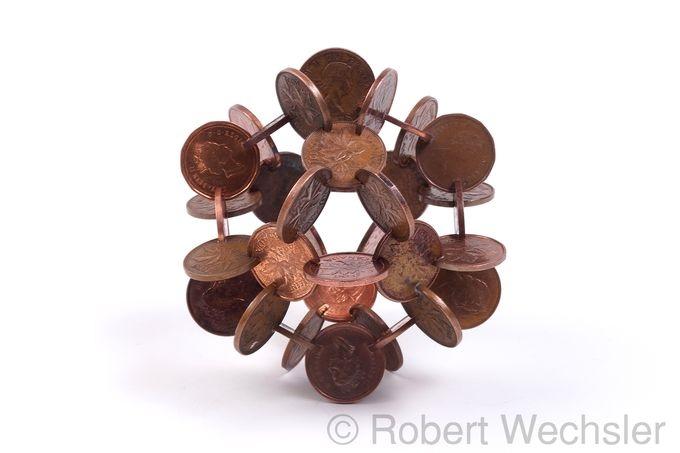 скульптуры из монет Robert Wechsler (680x453, 84Kb)