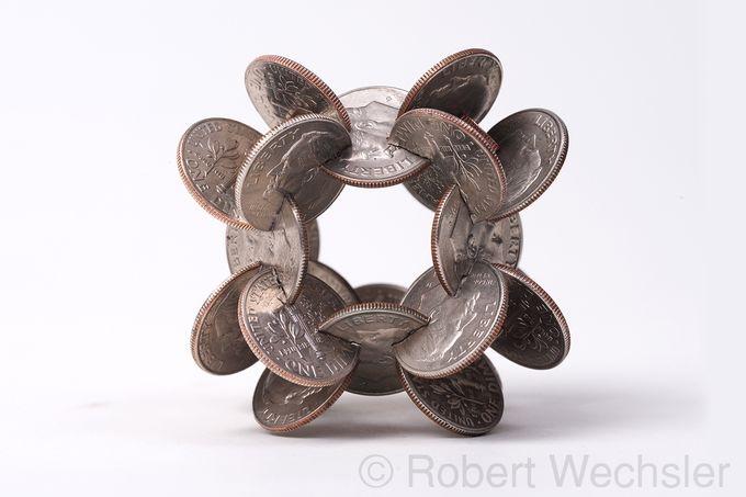 скульптуры из монет Robert Wechsler 7 (680x453, 99Kb)
