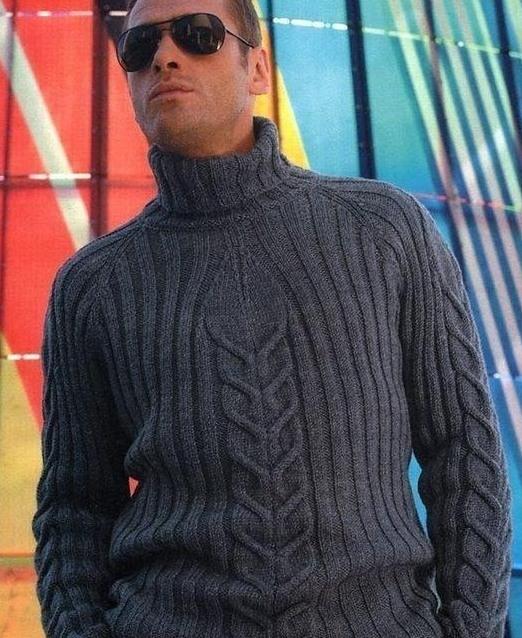 Мужской свитер вязать своими руками