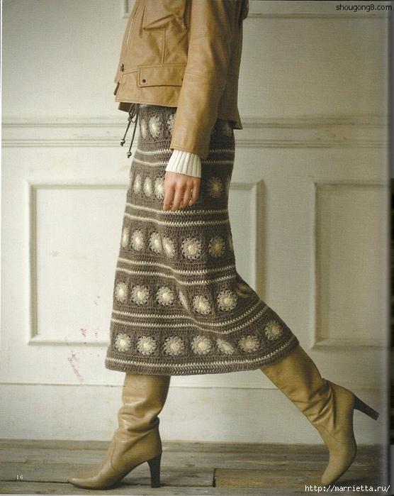 Теплая юбка крючком. Схема (1) (556x700, 284Kb)