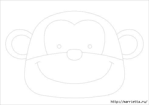 Шьем сумочку для ребенка. Тигр и обезьянка (4) (490x346, 27Kb)