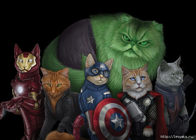 3925073_CatsasSuperheroesbyJennyParks1 (630x450, 144Kb)