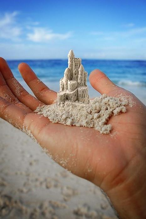 Шедевры из песка.