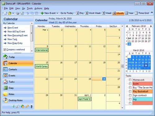 Персональный менеджер программа EfficientPIM