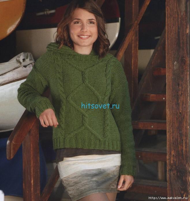 pulover3 с каюшоном (659x700, 227Kb)