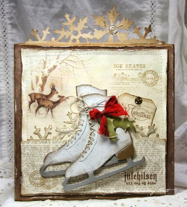 Рождественская открытка с фигурными коньками. Скрапбукинг (8) (633x700, 344Kb)