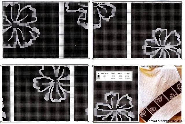 Черно-белая вышивка для банного полотенца (6) (640x430, 239Kb)