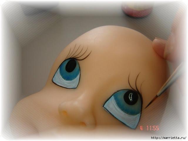 Как нарисовать глазки кукле из холодного фарфора (11) (640x480, 110Kb)