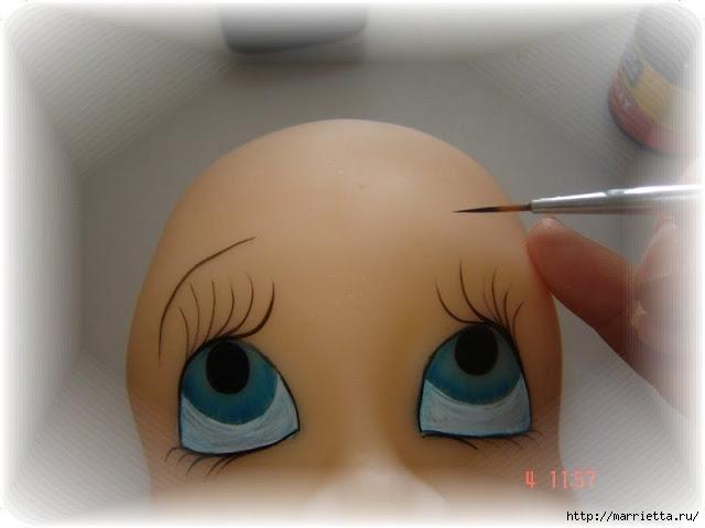 Как нарисовать глазки кукле из холодного фарфора (13) (640x480, 108Kb)