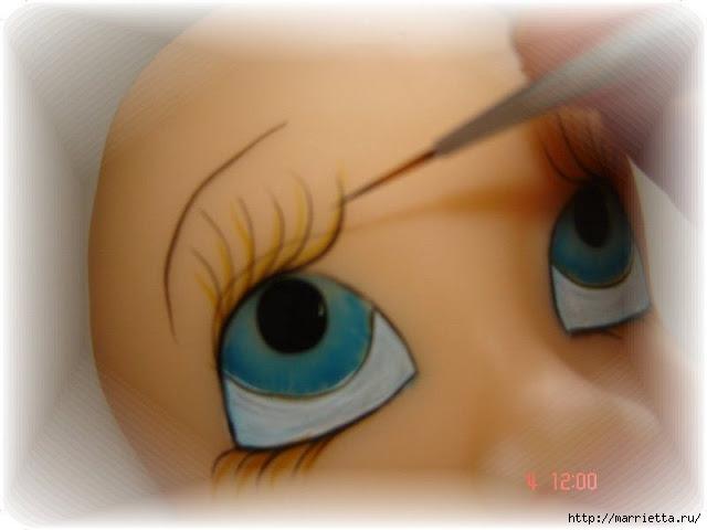 Как нарисовать глазки кукле из холодного фарфора (15) (640x480, 108Kb)