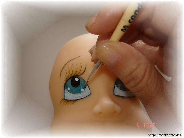 Как нарисовать глазки кукле из холодного фарфора (17) (640x480, 116Kb)