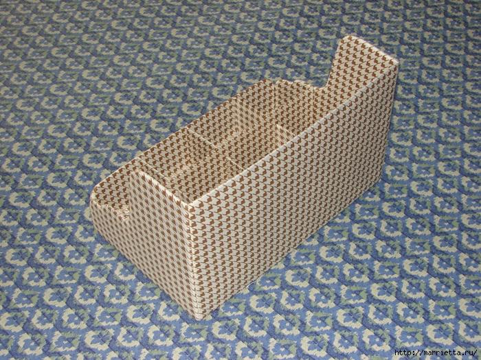 Полочка из картона для ванной комнаты, своими руками (3) (700x525, 460Kb)