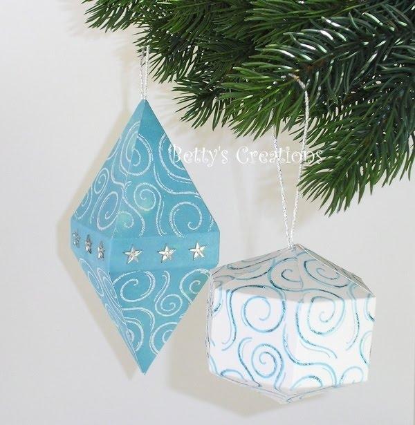 Коробочки, корзинки и новогодние игрушки из картона. Шаблоны (22) (600x615, 189Kb)