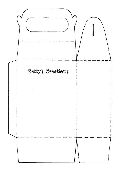 Коробочки, корзинки и новогодние игрушки из картона. Шаблоны (82) (494x700, 51Kb)