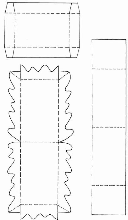 Коробочки, корзинки и новогодние игрушки из картона. Шаблоны (84) (409x700, 65Kb)