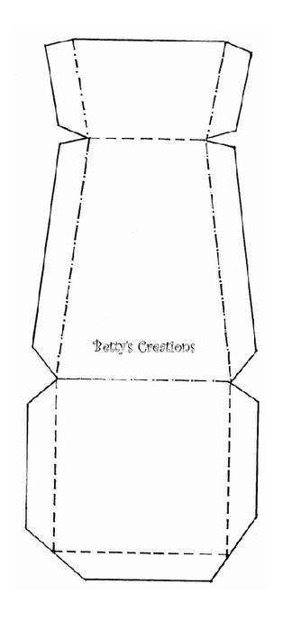 Коробочки, корзинки и новогодние игрушки из картона. Шаблоны (88) (314x700, 40Kb)