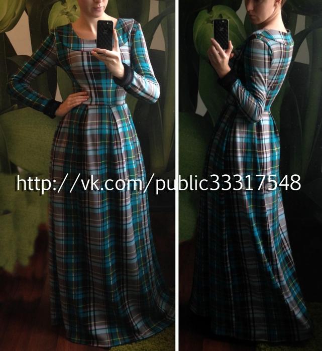 Платье зимнее длинное фото