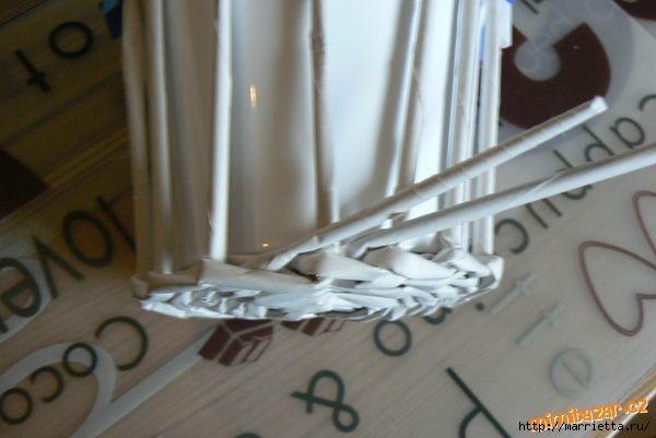 Плетение из газет. Винтажное кашпо из газетных трубочек. Идеи и мастер-класс (12) (600x401, 100Kb)