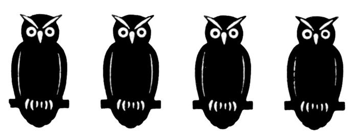 СОВЫ. Винтажные картинки для творчества (23) (700x272, 46Kb)