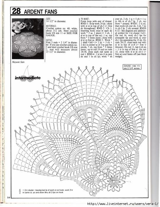 钩针桌布图解(65)