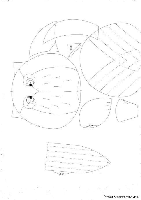 Детские кошельки с изображением животных. Шьем сами. Выкройки (1) (487x690, 76Kb)