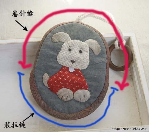 Детские кошельки с изображением животных. Шьем сами. Выкройки (4) (500x444, 100Kb)