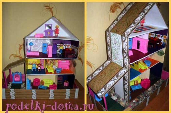 Как делать домики для кукол и вещи